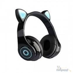 Fones De Ouvido Gatinha Bluetooth 5.0 Baixo Ruído Headseat PRETO